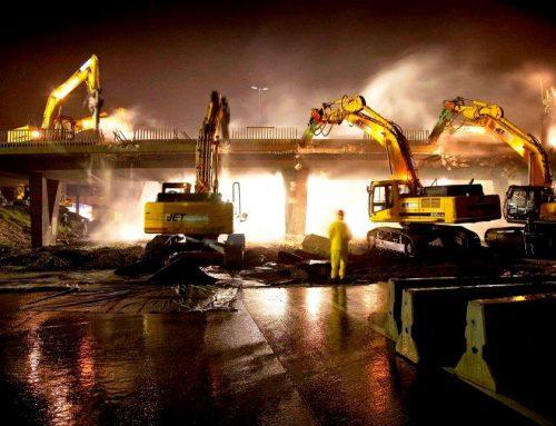Demolition of freeway bridges goes according to plan